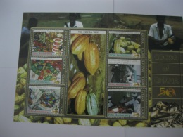 Ghana 2007 50th Anniversary Of Independence  Cocoa And Chocolate  Sheet - Ghana (1957-...)