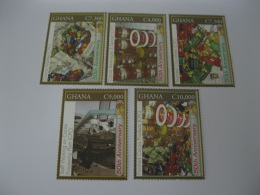 Ghana 2007 50th Anniversary Of Independence  Cocoa And Chocolate 5 Stamps - Ghana (1957-...)