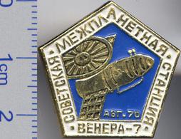 318 Space Soviet Russia Pin Interplanetary Station Venus-7. 1970 - Space