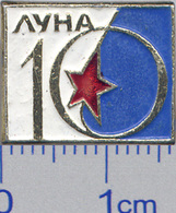 371 Space Soviet Russian Pin. Luna-10 Soviet Moon Program - Space