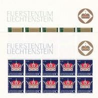 Liechtenstein, Kleinbogen Nr. 546/47**(K 3344) - Bloques & Hojas