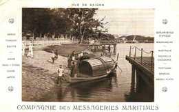 Vue De Saigon Compagnie Des Messageries Maritimes RV - Viêt-Nam