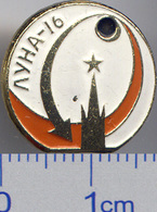 372 Space Soviet Russian Pin. Luna-16 Soviet Moon Program - Space
