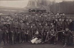 CP Photo :  Fosse N° 4  Hersin Coupigny - Militaires 145ème Régiment D'Infanterie De Maubeuge - 1900 - Mines