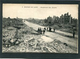 CPA - RUINES DE LENS - Boulevard Des Ecoles, Animé - Guerre 1914-18