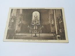 22 COTES D'ARMOR CARTE ANCIENNE EN NOIR ET BLANC DE 1911 BINIC INTERIEUR DE L'EGLISE N°3509 EDITJ WATON - Binic