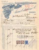 """07417 """"MARCO CATALANO & C. STABILIMENTO ENOL. VINI MARSALA - TRAPANI - 30 LUGLIO 1935"""" FATTURA SU CARTA INTESTATA ORIG. - Italy"""