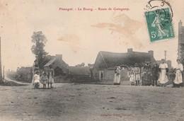 CPA  22 PLOUAGAT LE BOURG ROTE DE GUINGAMP ANIMEE - France