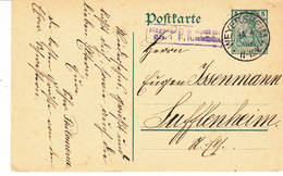 EP Michel P 90 Obl WEYERSHEIM Du 14.4.16 Adressé à Sufflenheim - Marcophilie (Lettres)