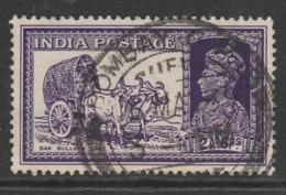 India 1937 King George VI, 1895-1952 2'6 A'P Light Violet SW 154 O Used - 1936-47  George VI