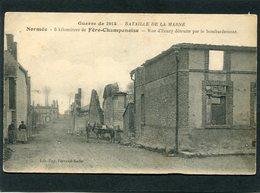 CPA - Guerre De 1914 - NORMEE - Rue D'Ecury Détruite Par Le Bombardement, Animé - Attelage - War 1914-18