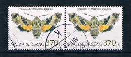 Ungarn 2011 Schmetterlinge Mi.Nr. 5523 Waagr. Paar Gestempelt - Ungarn