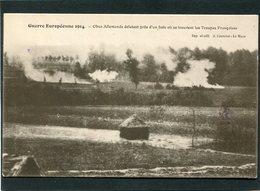 CPA - Guerre 1914 - Obus Allemands éclatant Près D'un Bois Où Se Trouvent Les Troupes Françaises - Guerre 1914-18