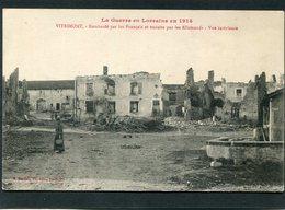 CPA - La Guerre En Lorraine En 1914 - VITRIMONT Bombardé - Vue Intérieure, Animé - Guerre 1914-18