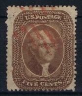 USA  Yv Nr 12a Signed/ Signé/signiert/ Approvato BRUN, With Red Cancel - 1847-99 Algemene Uitgaves