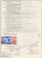 """(Maurice) Mauritius. Timbres Postaux Utilisés Comme Fiscaux Sur Certificat D'avaries 1984. Bateau """"Galatée"""" . - Mauritius (1968-...)"""