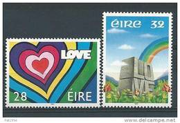 Irlande 1992 N°783/784 Neufs ** Messages D'Amour - 1949-... República Irlandése