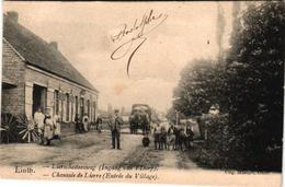 1 Oude Postkaart Lint  Linth     Liersesteenweg Lierschesteenweg   Ingang Van Het Dorp   Uitg. Massart  1906 - Lint