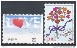 Irlande 1985 N°556-557 Neufs ** Messages D'amour - 1949-... Repubblica D'Irlanda