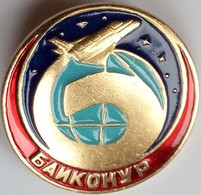 255 Space Soviet Russia Pin. Baikonur Cosmodrome. Buran - Space