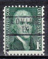 USA Precancel Vorausentwertung Preo, Locals Texas, Loving 837 - Vereinigte Staaten