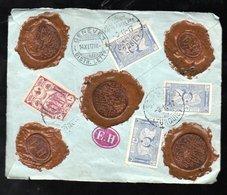 Impressive Back Of A Cover 1917 (wax Sealed E.H. (122) - 1858-1921 Impero Ottomano
