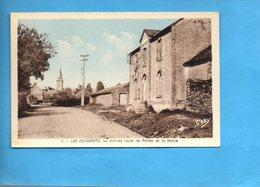 5634 - LES FOUGERETS - Morbihan - Arrivée Route De Peillac Et La Mairie - Cahet Au Dos - Francia