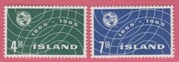1965 ** Islande  (sans Charn., MNH, Postfrish)  Yv  345/6Mi  390/1FA  427/8 - 1944-... Repubblica
