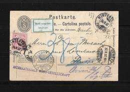 HEIMAT ZÜRICH → 1907 Postkarte/Nachnahme Winterthur Nach Genf  ►SBK-83 Zusatzfrankatur◄ - Storia Postale