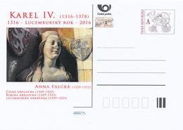 Tchéquie / Cartes Post. (Pre2016/14) Année Du Luxembourg - Charles IV (1316-1378); Anne De Bavière (1329-1353) - Celebrità