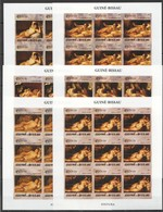 V289 IMPERF 2005 GUINE-BISSAU ART PINTURA REMBRANDST GOYA VECELLIO 9SET MNH - Art