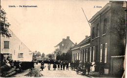 1 Oude Postkaart Lint  Linth   De Statiestraat    Uitgever  J.Sluyts  Hondenkar - Lint