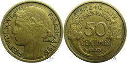 France - IIIe République - 50 Centimes Morlon 1933 9 Fermé Sans Raisin - TTB - Fra3057 - G. 50 Centimes