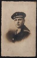 """MARINE NATIONALE ALLEMANDE - CROISEUR SMS """"STRASSBURG"""" / 1918 PHOTO D'UN MATELOT ALSACIEN (ref LE2446) - Barcos"""