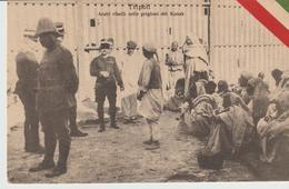 423-Tripoli-Libia-Africa-ex Colonie Italiane-Militaria-Guerra Italo-Turca-Gruppo Di Prigionieri Arabi - Libya