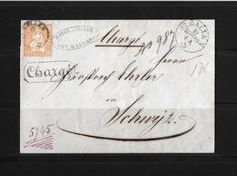 1862 - 1881 SITZENDE HELVETIA Gezähnt → Chargé-Brief St.Gallen Nach Schwyz  ►SBK-32a◄ - Lettres & Documents