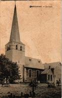 1 Oude Postkaart   Oostruweel Austruweel   DE Kerk  Kerkhof  Verdwenen - België