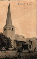 1 Oude Postkaart   Oostruweel Austruweel   DE Kerk  Kerkhof  Verdwenen - Otros