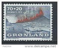 Groënland 1973 N°74 Neuf Eruption Volcanique De Heimaey - Groenland
