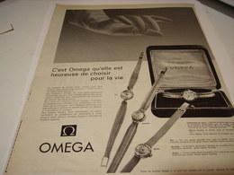 ANCIENNE PUBLICITE MONTRE OMEGA POUR LA VIE  1955 - Jewels & Clocks