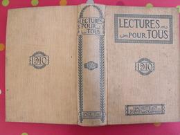 Lecture Pour Tous 1909-1910. Hachette Reliure éditeur. Maharajah Inde Rajah Tibet Tonkin Carnaval Pole Nordwright Bagne - Books, Magazines, Comics