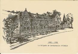 """Carte Lettre De ESNEUX """" 1888-1988 La Brigade De Gendarmerie """" - Esneux"""