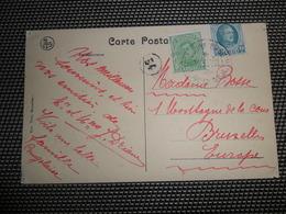 ( 84 ) Pâquebot Courrier De Haute Mer S/S Thysville Op 137 + 194 - Kaart Congo Kongo - Storia Postale