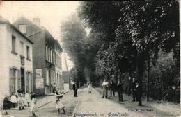 1 Oude Postkaart    Drogenbos  Droogenbosch Grote Steenweg Grande Route  Edit.  De Clerck  1906 - Drogenbos