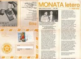 Esperanto Colombia Rivista MONATA LETERO Con Francobollo Papa Giovanni Paolo II - Sellos