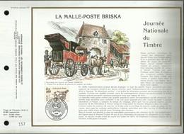 CEF N° : 810 . JOURNEE NATIONALE DU TIMBRE . LA MALLE - POSTE BRISKA . 05 AVRIL1986  . PARIS . - FDC