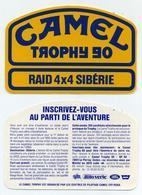 Autocollant Sticker - Camel Trophy 1990 Raid Sibérie URSS - Old Paper