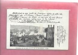 """INCENDIE DE LA NUIT DU 1er AU 2 NOV 1902 """" EGLISE DE St-PIERRE ( & Miquelon ) AFFR AU VERSO . 2 SCANES - Saint-Pierre-et-Miquelon"""