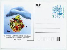 CZECH REPUBLIC 1997 7 Kc Postcard Montreal Ozone Agreement Unused.  Michel P29 - Postcards