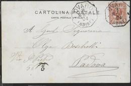 STORIA POSTALE REGNO - ANNULLO OTTAGONALE OVARO(UDINE) (p.5) SU CARTOLINA 03.09.1904 - Marcophilie